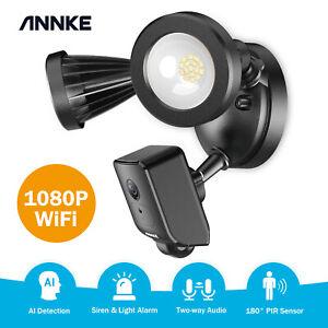 ANNKE Wireless 2-way Audio PIR Floodlight Security WiFi Home Camera AI Detection