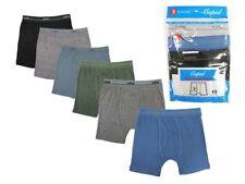 3 Boy's Boxer Briefs in a Pack Solid Color Underwear Cotton Size S M L XL B312