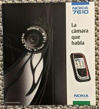 Nokia booklet 7610 rare 2004 6 pages brand new rare