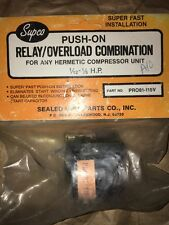 PRO81 Supco Push-On Relay/Overload Combo 1/12 - 1/5 HP for Hermetic Compressors