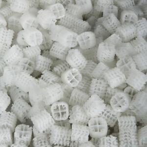 Hel-X® 17 KLL hochwertiges Filtermedium Helix Koi Teich Filter weiß 50 L - 400 L