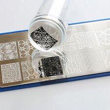 Nail Art Clear Jelly Head Silicone Stamper Scraper Cap Transparent Stamping