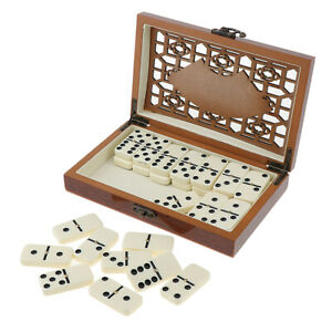 Retro Dominoes Set of 28 Traditional Board Travel Game Toys Kids Gift