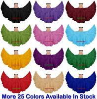 100% Cotton Skirt Gypsy 4 Tiered 25 Yard Skirt Tribal Belly Dance Röcke Oriental