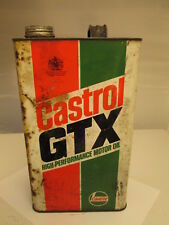 Castrol GTX gallon oil tin. motor oil. Shell. Esso.BP. garage.