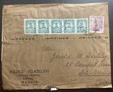 1940s Madrid Spain Philatelic Magazine Cover to Sale Manchester England