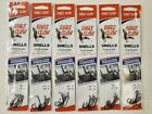 6 New 6 packs of Size 2 Eagle Claw Plain Shank Snelled Fishhooks Fish Hook Snell