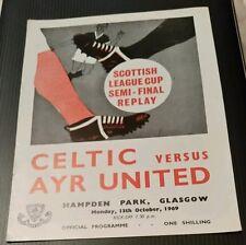 Celtic v Ayr United League Cup Semi Final Replay 13/10/69
