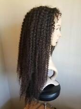 "Human Hair Curly 22 to 24"" Full Lace Wig Brazilian Virgin Hair"