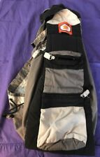 JJ Cole Collection Premaxx Baby Side Sling Carrier Black Gray Birth to 35 lbs