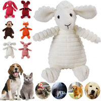 Cute Pet Dog Puppy Chew Toy Squeaker Squeaky Soft Plush Play Sound Teeth Toys