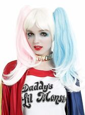 Suicide Squad Harley Quinn Pink Blue Pony Tail Cosplay Wig by Leg Avenue New