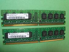 Infineon PC2-4200U 1GB (2X 512MB) 533 MHz DDR2 (HYS64T64000HU-3.7-A) 1RX8 240pin
