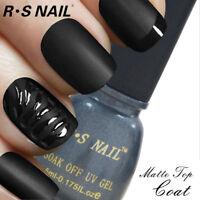 RS NAIL UV LED Gel Nail Polish Matte Top Coat 5ml Top it Off Soak Off