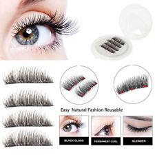 Triple Magnetic 3D Eyelashes Handmade Reusable False Long Magnet Full Eye Lashes