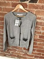 NEXT WOMENS GREY ROUND NECK CARDIGAN WITH BUTTONS SIZE: 6 BNWT RRP £20