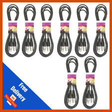 More details for 8 x 3m high quality dmx lighting control xlr cable leads dj light stage pack qtx