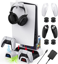 7 in 1 PS5 Console Cooling Fan Stand Charging Station Kit Including - WeProGame