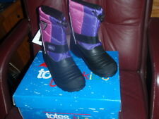 TOTES PURPLE/PINK DAGREE WATERPROOF SNOW BOOTS SIZE 4 KIDS RETAIL $59.99