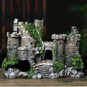 Artificial Fish Tank Ancient Castle Tower Landscaping For Aquarium Rock Cave