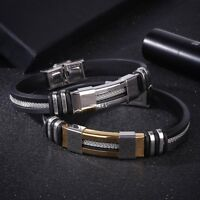 Men Jewelry Stainless Steel Vintage Punk Style Bracelets Bangle Gift Accessories