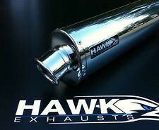 HAWK Kawasaki ZX12R ZX12 Stainless Steel Oval Exhaust Can UK Road Legal