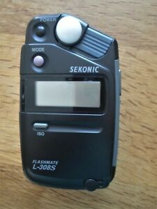sekonic l-308s flashmate light meter - little used