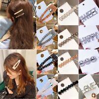 New Women Crystal Rhinestone Word Snap Hairpin Hair Barrette Hair Clip Headwear