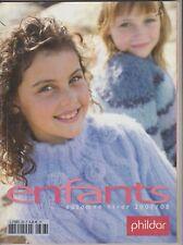Catalogue tricot PHILDAR Créations N°474 Enfants Automne-Hiver 2007
