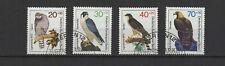 1973 Allemagne Berlin oiseaux rapaces 4 timbres oblitérés/T2223