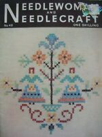 Jan 1952- NEEDLEWOMAN and NEEDLECRAFT No.49 - Complete with Uncut Transfer Page