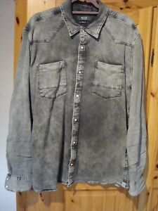 Mustang Jeans Hemd anth./schwarz/grau Gr.XL Slim fit
