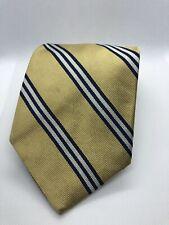 Brooks Brother Yellow Striped 100% Silk Tie NEW