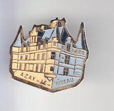 RARE PINS PIN'S .. TOURISME CHATEAU CASTLE DE LOIRE AZAY LE RIDEAU GRIS 37 ~CP