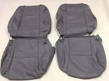 2005-2009 TOYOTA TACOMA TRD WSPORT SEAT GREY LEATHER CUSTOM FRONT UPHOLSTERY SET