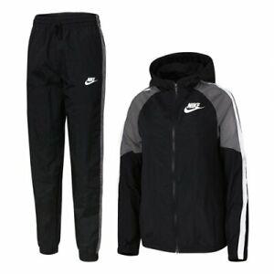 Nike Sportswear Boy (Kids) Black/Grey/White Woven Tracksuit (BV3700-100) M/L/XL