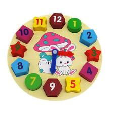 Montessori Educational Sorting Clock Wooden Toys for Toddlers Baby Kids