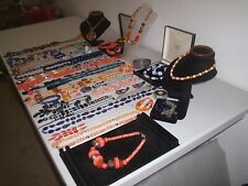 LARGE JOB LOT OF VINTAGE & COSTUME JEWELLERY NECKLACES BRACELETS EARRINGS (P3)