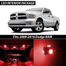 2009-2016 Dodge RAM 1500 2500 3500 Red Interior LED Lights Package Kit