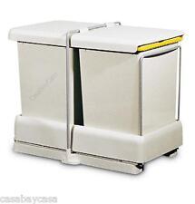 Pattumiera estraibile per cucina AUTOMATICA 2 secchi 10,5 L cesti sottolavello