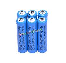 6x AAA 1800mAh 1.2V Ni-MH 3A color azul Batería Recargable Para RC/Juguetes/MP3