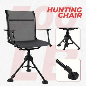 360° Swivel Hunting Chair Folding Blind Chair Seat For Fishing Camping Outdoor