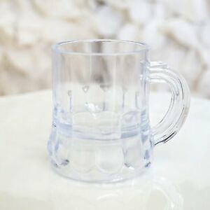 Set of 8 MINI BEER MUGS Shot Glass Plastic Wedding Favor Beerfest Pub USA