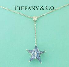 a59c383cb Tiffany & Co Star Drop Platinum 1.12 ct Sapphire & Diamond Necklace 16