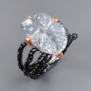 Vintage Aquamarine Ring Silver 925 Sterling  Size 8.5 /R155362