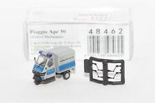1:87 Piaggio Ape 50 - Polizei Mettmann   Busch 48462   Modellauto H0 Speed8teen