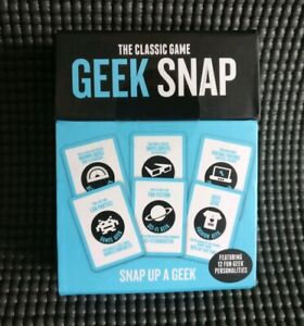 GEEK SNAP The Classic Modern Adults Travel Card Game  (Snap up a Geek) NEW