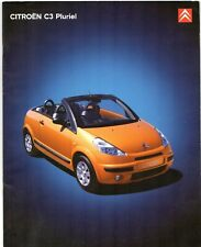 Citroen C3 Pluriel 2004-05 UK Market Sales Brochure 1.4i 1.6i 1.4 HDi