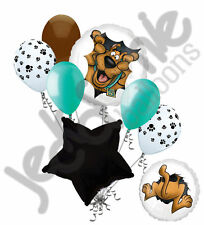 7 pc Scooby Doo Heads & Tails Happy Birthday Balloon Bouquet Decoration