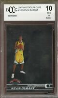 2007-08 Stadium Club #102 Kevin Durant Rookie Card BGS BCCG 10 Mint+